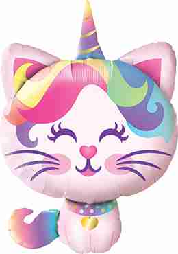 Mythical Caticorn Foil Shape 38in/97cm