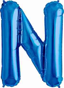 N Blue Foil Letter 34in/86cm