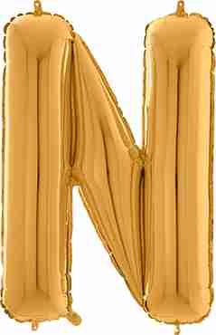 N Gold Foil Letter 26in/66cm
