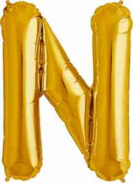 N Gold Foil Letter 34in/86cm