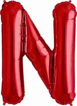 N Red Foil Letter 34in/86cm