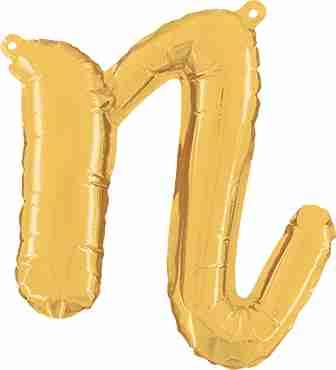 N Script Gold Foil Letter 14in/36cm