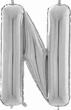 N Silver Foil Letter 26in/66cm