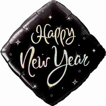 New Year Sparkle Foil Diamond 18in/45cm