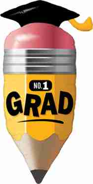 no. 1 grad pencil foil shape 41in/104cm