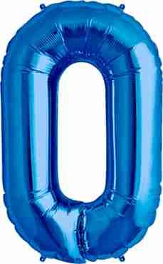 O Blue Foil Letter 16in/40cm