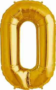 O Gold Foil Letter 16in/40cm