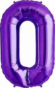 O Purple Foil Letter 34in/86cm