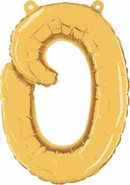 O Script Gold Foil Letter 14in/36cm
