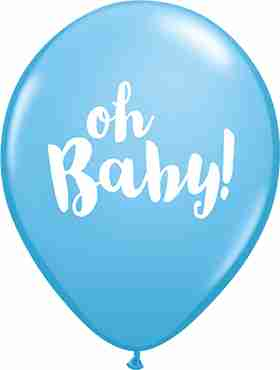 Oh Baby! Standard Pale Blue Latex Round 11in/27.5cm