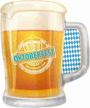 Oktoberfest Foil Shape 24in/60cm x 31in/80cm