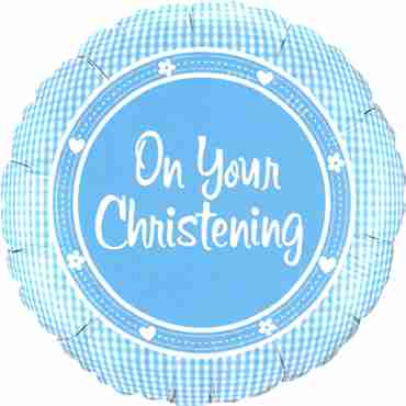 on your christening foil round 18in/45cm