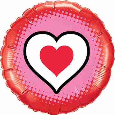 Only Hearts Foil Round 18in/45cm