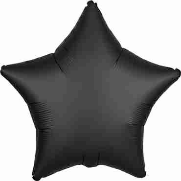 Onyx Satin Luxe Foil Star 17in/43cm