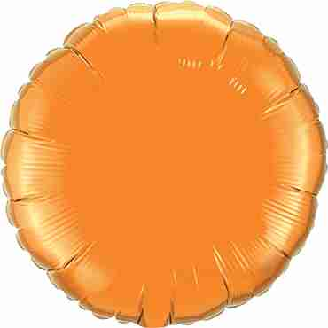 Orange Foil Round 18in/45cm