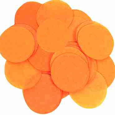 Orange Paper Round Confetti (Flame Retardant) 25mm 100g