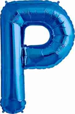 P Blue Foil Letter 34in/86cm