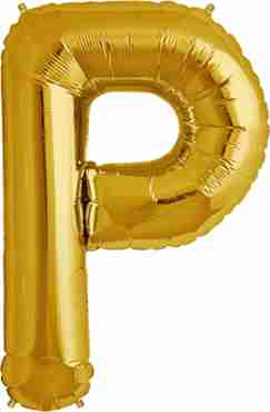 P Gold Foil Letter 16in/40cm