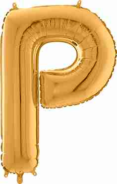 P Gold Foil Letter 26in/66cm