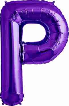 P Purple Foil Letter 34in/86cm
