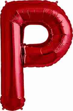 P Red Foil Letter 34in/86cm