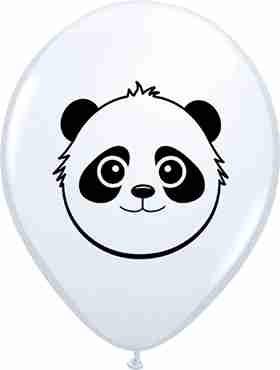 Panda Bear Face Standard White Latex Round 5in/12.5cm