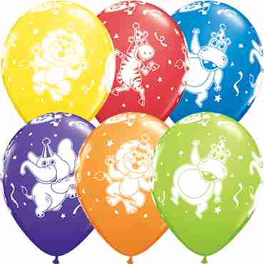 Party Animals Carnival Assortment Latex Round 11in/27.5cm