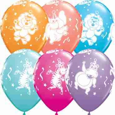 party animals retail assortment latex round 11in/27.5cm