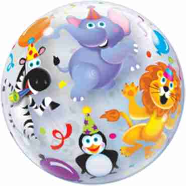 Party Animals Single Bubble 22in/55cm