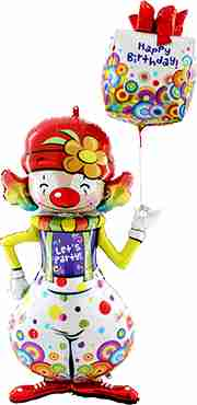 Party Clown (Mx4) Foil Shape 60in/152cm