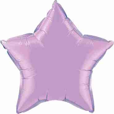 pearl lavender foil star 20in/50cm