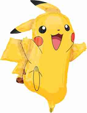 Pikachu Foil Shape 24in/62cm x 31in/78cm