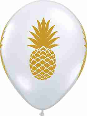Pineapple Crystal Diamond Clear (Transparent) Latex Round 11in/27.5cm
