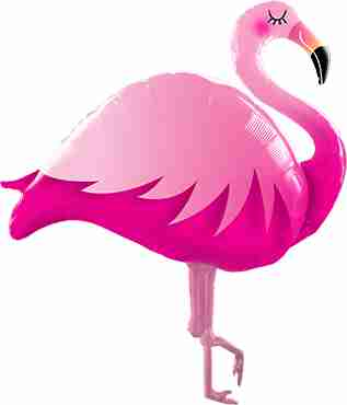 Pink Flamingo Foil Shape 46in/117cm