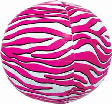 Pink Zebra Sphere 17in/43cm