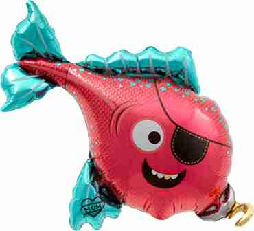 pirate fish foil shape 14in/35cm