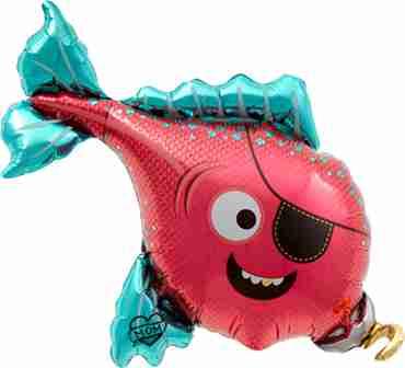 Pirate Fish Foil Shape 43in/109cm