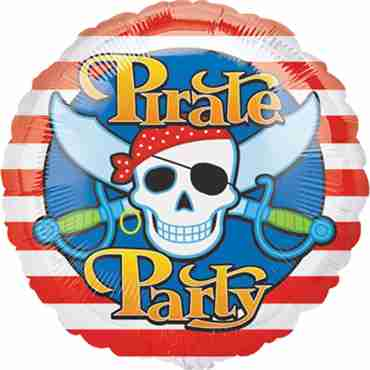 pirate party foil round 18in/45cm