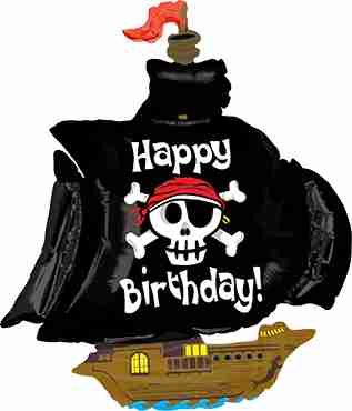 Pirate Ship Birthday Foil Shape 46in/117cm