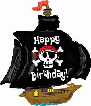 Pirate Ship Birthday Foil Shape 46in/117cm