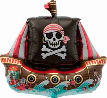 Pirate Ship Foil Shape 14in/35cm