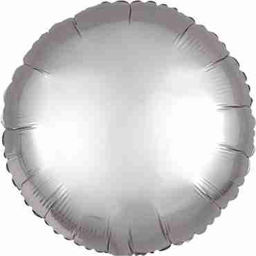 Platinum Satin Luxe Foil Round 17in/43cm