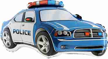 Police Car Foil Shape 31in/78cm