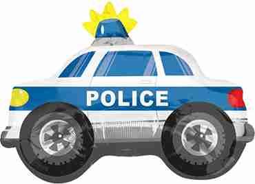 Police Car Vendor Foil Shape 24in/60cm x 18in/45cm