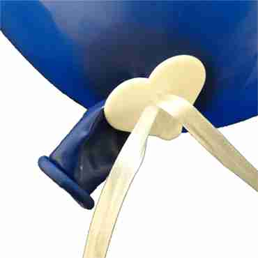 Polyfix Balloon Seal for 9in/22.5cm - 16in/40cm Balloons with 1.3m Ribbon