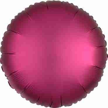 Pomegranate Satin Luxe Foil Round 17in/43cm
