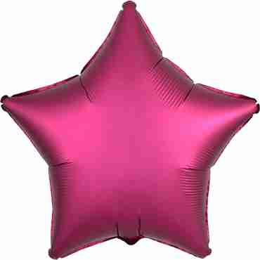 Pomegranate Satin Luxe Foil Star 17in/43cm