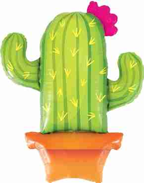 Potted Cactus Foil Shape 39in/99cm