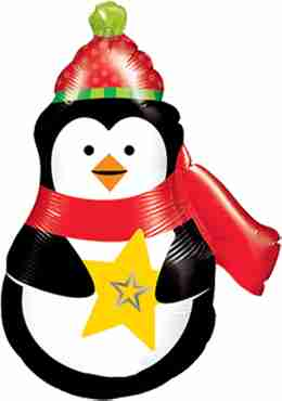 Precious Penguin Foil Shape 14in/35cm
