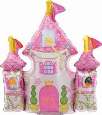 princess castle foil shape 14in/35cm